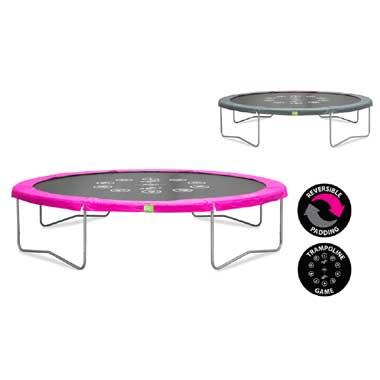EXIT Twist trampoline rond - 427 cm - roze