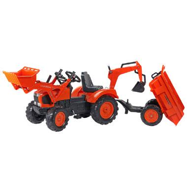 Falk Kubota tractor - rood
